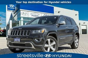 2016 Jeep Grand Cherokee 4X4 LIMITED,LEATHER,ROOF,NAV
