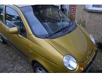 2004 Matiz SE+ 5 dr 1L, c. 50k authentic miles MOT Jan 2018, reduced price for quicker sale