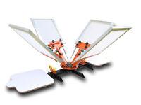Silk Screen Printing Machine 4 Colors 2 Plates