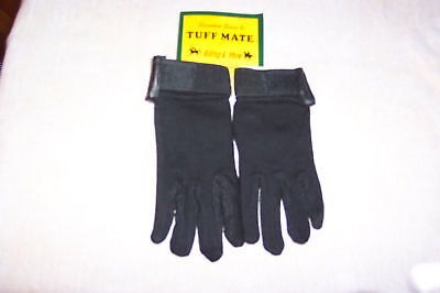 Ride Jersey Gloves (TUFF MATE RIDING GLOVES JERSEY COTTON WITH MINI DOTS SIZE MEDIUM)