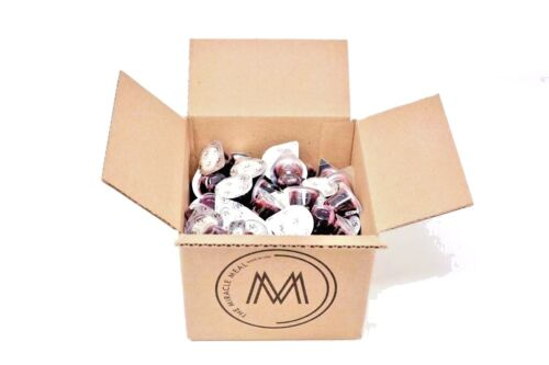 The Miracle Meal | 100 Pre-filled Communion Cups with Grape Juice & Wafer in box