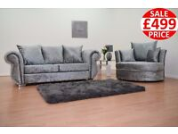 BRAND NEW WINDSOR 3 SEATER + CUDDLE CHAIR SOFA SET - FAST U.K DELIVERY