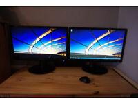 2x iiyama ProLite E2473HS-GB1 monitor for pc, ps3, ps4, xbox ( 2xHDMI )
