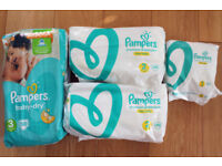 Pampers sizes 1, 2, 3