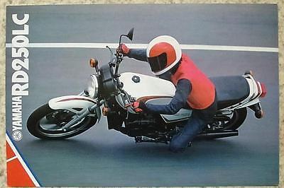 YAMAHA RD250LC Motorcycle Sales Brochure c1981 #LIT-3MC-0107545-81E
