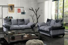 BRAND NEW SOFA DINO CORNER OR 3+2 SEATER JUMBO FABRIC CORD***1 YEAR WARRANTY''