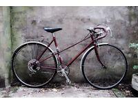 RALEIGH, vintage ladies women's racer racing road bike, 20 inch, 5 speed
