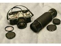 canon av1 vintage camera plus zoom lens as spares not DSLR
