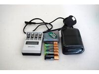 19 AA Durasell rechargeable batteries with charger and pouch in good condition