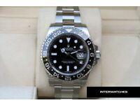 Rolex 116710 GMT Master II Ceramic Black Dial