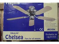 alders chelsea ceiling conservatory fan , never fitted in original packaging