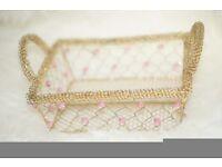 Gold vintage deco basket