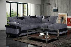 BIG SALE NOW ON -- New Dino Premium Fabric Corner or 3 and 2 Seater Jumbo Cord Sofa Suite