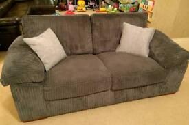 Grey Sofa - 3 Seater & 2 Seater & Foot Stool