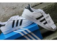 Adidas Originals Superstars in White Size 5