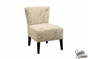 Ravity French Script Chair