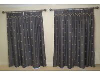 Charcoal Curtains .. 2 pair as new .. expensive designer material