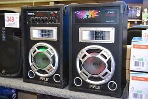 "Pyle new PSUFM837BT Karaoke Bluetooth Speaker System with Pair of 8"" Speakers Disco Jam Powered Two-Way PA"