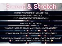 SWEAT & STRETCH CLASS *WEDNESDAYS & SUNDAYS*