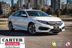 2017 Honda Civic LX CVT + BACKUP CAM + HEATED SEATS + LOW KMS!