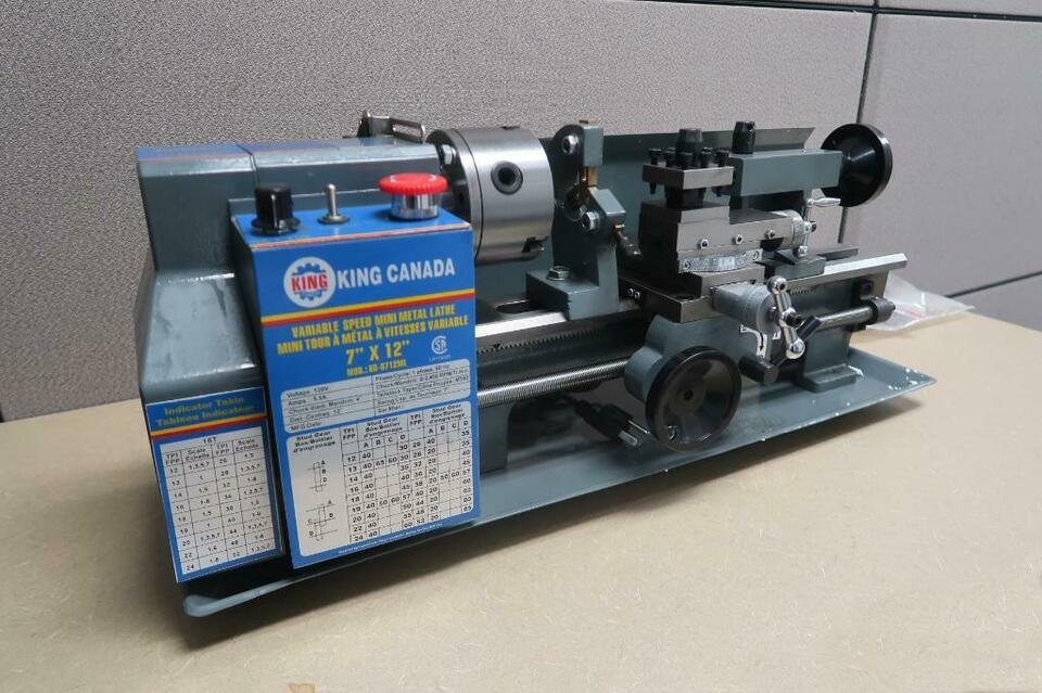 King Canada 7in X 12in Metal Lathe Other Business Industrial