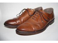 Vintage Angelo Litrico Men's Leather Oxford Shoes Elegant Smart Gentleman's 8.5 43