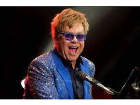 2 x seating tickets - Elton John & His Band