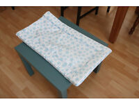 White with blue stars baby change mat, great condition