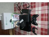 Xbox 360 and 2 games.
