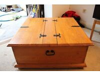 large double wooden toy/blanket box