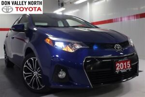 2015 Toyota Corolla S UPGRADE PKG Sunroof Btooth BU Cam Heated S