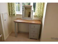 Dressing Table - Solid Wood with Vanity Mirror
