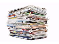 Recycle Your Old Newspapers! Looking For Old Newspapers For Packaging - Large Amounts -Will Collect