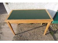 Vintage Oak Desk Library Office Computer Table, solid light oak, Hand Stripped