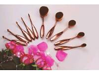10 pcs New makeup brushes oval