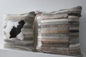 COWHIDE RUG TAPIS PEAU DE VACHE DECORATION PROMOTION pillow coussin