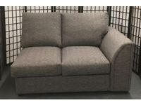 NEW Estelle 2-seater sofa section grey tweed style