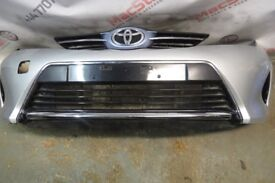 TOYOTA AURIS FRONT BUMPER IN SILVER FITS 2012-2015 FACELIFT MODELS