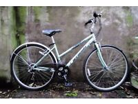 BARRACUDA EXPEDITION. 17.5 inch, 44.5 cm. Ladies womens hybrid road bike, 18 speed.