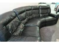 DFS curved 5 seater recliner sofa