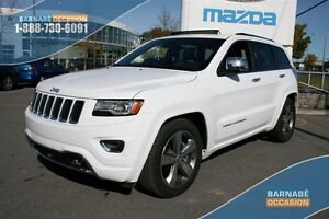 2016 Jeep Grand Cherokee Overland V8-CUIR-TOIT-PANO-GPS!!! COMME