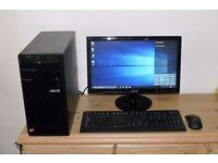Asus Full Desktop PC, AMD A4 CPU, 500GB HDD, 4GB Ram, HMDI, HD Graphics, WiFi, Card Reader, Win 10