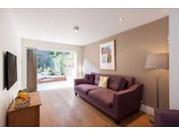 GLOUCESTER AVENUE NW1: TWO BED, TWO BATH, GARDEN FLAT, PRIMROSE HILL, AVAILABLE MID NOV, FURNISHED