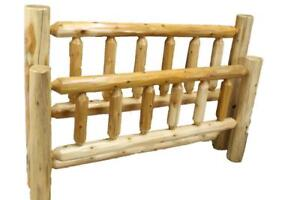 Mennonites Handcrafted Local Cedar Log Beds - single, double, queen, king size, and bunk beds
