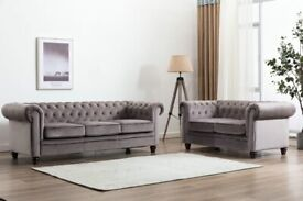 BRAND NEW CHESTERFIELD 3+2 SOFA SET (NEXT DAY DELIVERY)