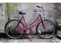 APOLLO COUNTY, 22 inch, 56 cm, vintage ladies womens dutch style traditional road bike, loop frame