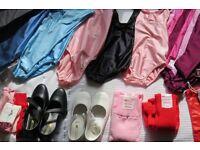 Dancewear - children's leotards and various dance accessories (Job Lot)