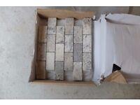 ANATOLIAN GREY BRICK MOSAIC TILE 5 X 10 - three sheets