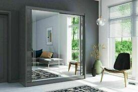 👌👌BRAND NEW MODERN 2 & 3 DOORS MIRRORED SLIDING WARDROBES, LED OPTION 👌👌
