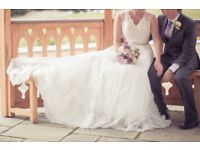 Anno Sorrano Wedding Dress, Size 12, Floor Length with Train